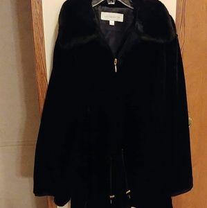 Liz Claiborne rabbit fur coat
